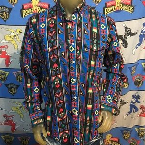 Vintage Native Wrangler Western Cowboy Shirt M